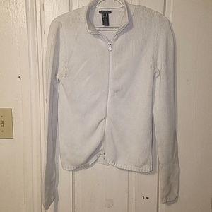 GAP Medium Stretch w/ Zipper Cream Sweater